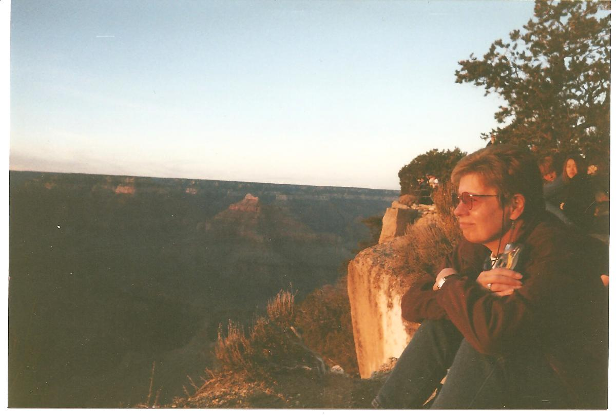 Mom at Grand Canyon