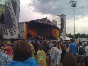 Irma Thomas and Marcia Ball at JazzFest