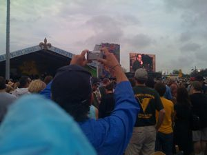 Elvis Costello and Allen Toussaint at JazzFest