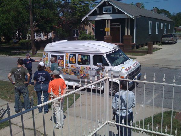 Ice cream van in Lower Ninth